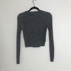 Aritzia Sweaters - Aritzia Babaton Nathaniel Sweater Ribbed Crop Knit